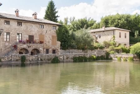 aquifer: Bagno VIgnoni, medieval town in Tuscany