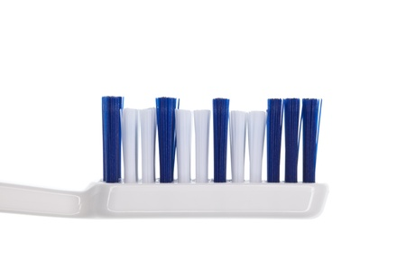 exhaustive: Normal blue-white toothbrush Stock Photo