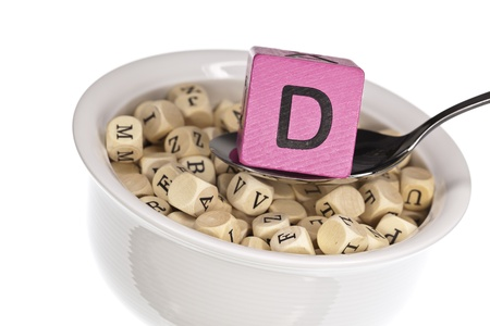 Vitamin-rich alphabet soup featuring vitamin d photo