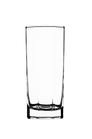 emptiness: Empty glass isolated on a white background