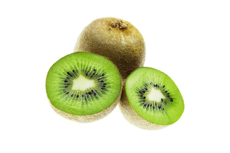 Kiwi fruit (chinese gooseberry) isolated on a white background Stock Photo - 12470629