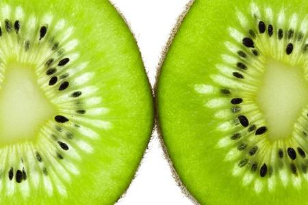 Kiwi fruit (chinese gooseberry) slices, side by side Stock Photo - 12470631