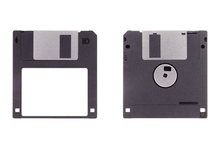 storage disk: 3 5inch floppy disk isolated on a white background