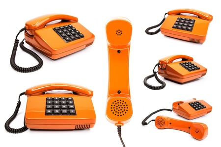 classic telephone collection, isolated on a white background Stock Photo - 12470701