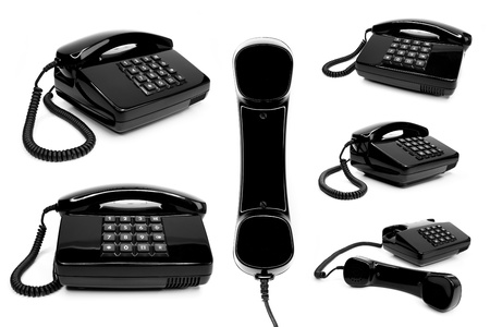 classic telephone collection, isolated on a white background Stock Photo - 12470692