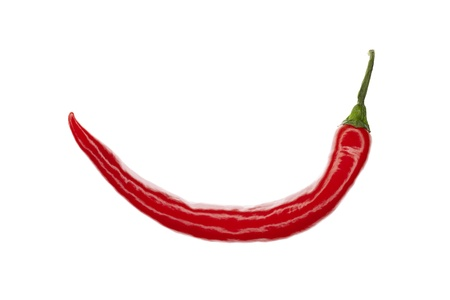 briskness: fresh red hot chili pepper, isolated on white background Stock Photo
