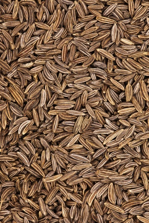 fennel seeds: Caraway seeds close up, can be used as a background Stock Photo