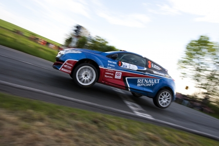 Zwickau, Germany, 10.05.2012 - Carsten Mohe in his Renault Megan RS at Shakedown of the AvD Sachsen Rallye 2012. Stock Photo - 13745009