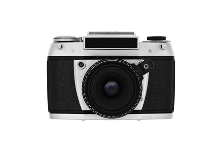 Classic roll-film camera isolated on white Stock Photo - 13972148