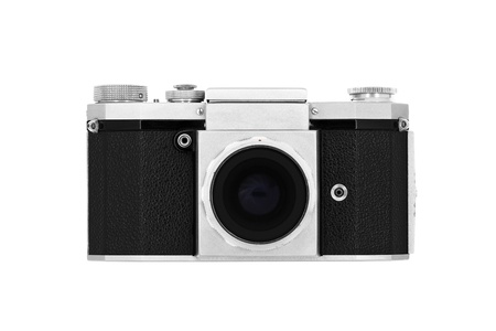 terrific: Classic roll-film camera isolated on white