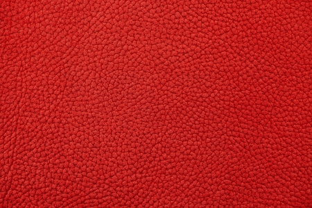 Red nubuck leather surface as background Stock Photo