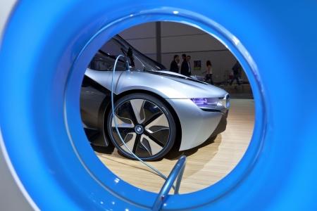 Leipzig, GERMANY, Juni 02, 2012 - BMW shows their electric concept car i8 at AMI Leipzig 2012. Stock Photo - 14720685
