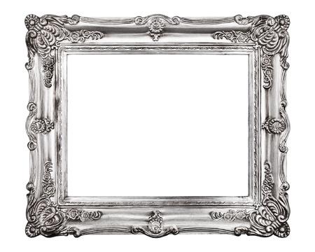 Baroque picture frame: Cadre photo Vintage, isol� sur fond blanc