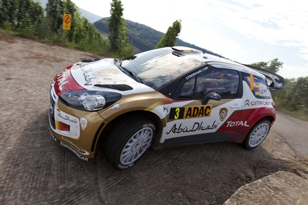 dani: Trier GERMANY August 25 2013  After the early end of Volkswagen Motorsport it was Dani Sordo and Thierry Neuville who delivered an one to one fight for the lead at ADAC Rally Deutschland. But it was the spanish who decided. Winner 2013 Dani Sordo from the