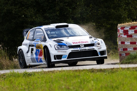 Trier, Germany - August 24, 2013  Sebastien Ogier, who has gained 5 rally victories this year, also considered as hot favorite at ADAC Rally Deutschland  But a suspension damage caused by a driving error blast all prospects for victory number six  Editorial