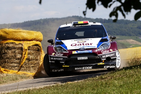 dani: Trier GERMANY August 25 2013  After the early end of Volkswagen Motorsport it looked good for Thierry Neuville at ADAC Rally Deutschland. But after an exciting duel between him and Dani Sordo and his own mistake on the last special stage Thierry was beate Editorial
