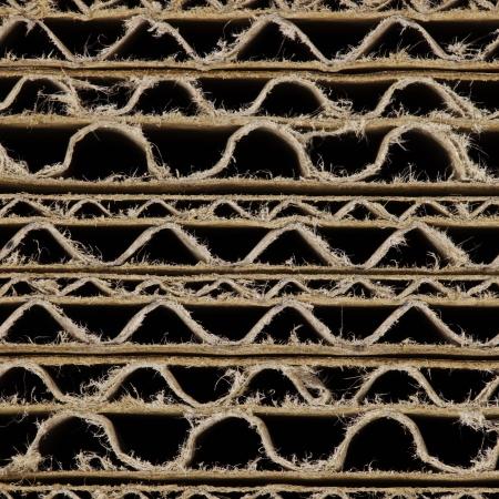 celulosa: Brown cartón corrugado uno encima del otro