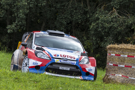 Trier GERMANY August 23 2014  Former Formula 1 driver Robert Kubica retired due to a transmission issue from Rallye Deutschland but he still took some positives from the event not least two stage wins.