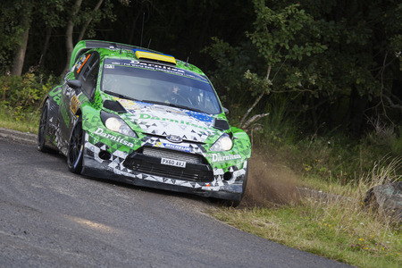 Ford Fiesta RS WRC during day 2 of the ADAC rally Germany on August 23, 2014 in Trier, Germany. Editorial