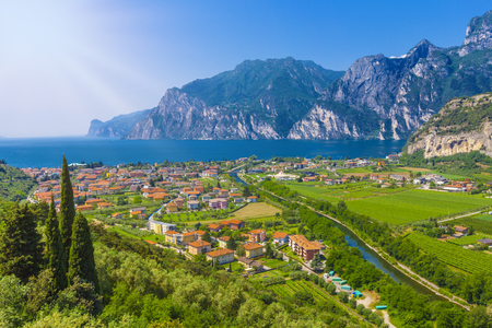 Popular travel destination, Torbole on Lake Garda, Trento, Italy