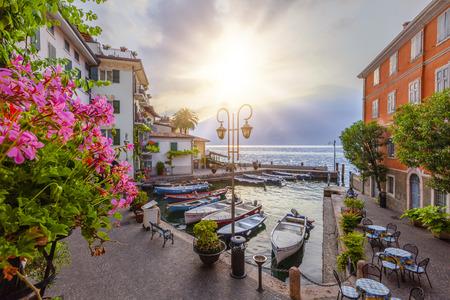 Sunrise at Brescia, Lombardy, Italy Stock Photo