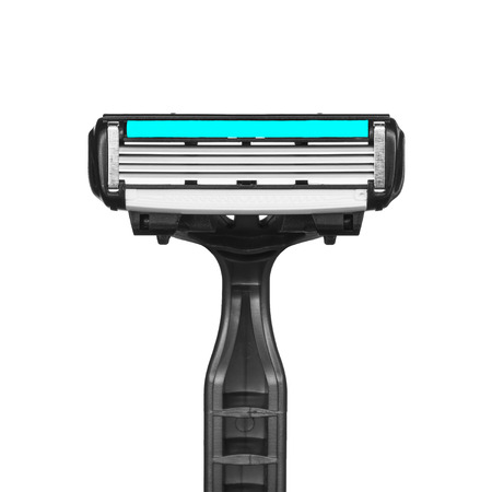 Disposable razor for daily hair removal, isolated on white background