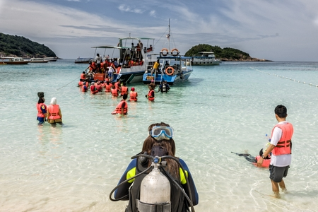 Malaysia Redang Island : Redang Island is famous for its crystal clear waters, white sandy beaches, and the tropical fish that inhabit the numerous reefs, many within 50 feet of the shore.