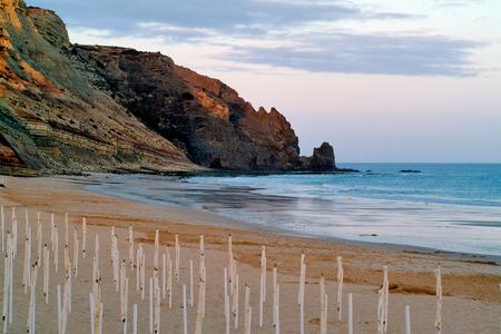 LUZ, PORTUGAL : beach of praia da luz 写真素材