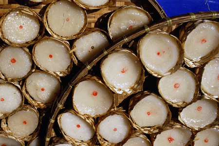 Bangkok, Thailand, Street food and market  glutinous rice sweetness for chinese new year