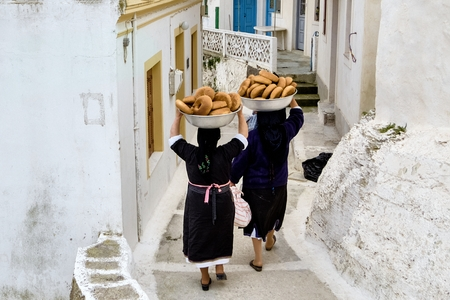 Greece, Karpathos Island, Easter in  Olympos    just  cooking bread for Easter in a traditional  community oven