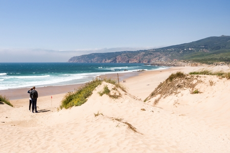 Praia do Guincho  is a popular Atlantic The beach, has preferred surfing conditions and is popular for surfing, windsurfing, and kitesurfing. Strong northern winds are predominant during summer time