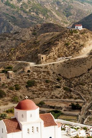 Greece, Karpathos island, Olympos Stock Photo
