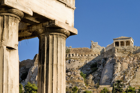 Greece, Athens, a view on the The Acropolis of Athens Stock Photo