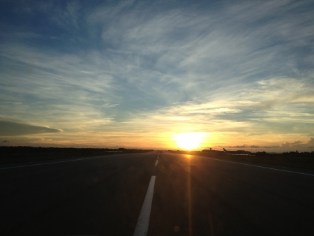 pista: Sunset from the Runway