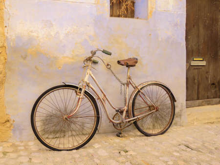 Antique bike chained