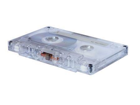 audio cassette: audio cassette lying on white
