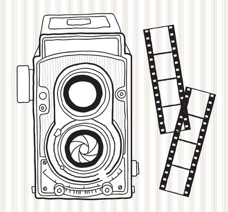 Hand drawn vintage camera Stock Vector - 20273696