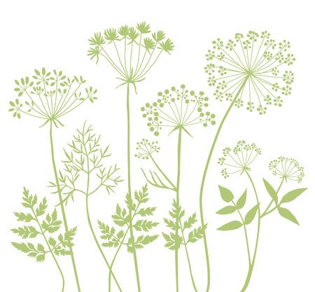 grasses: Wild grasses silhouettes A