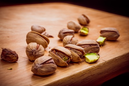 munch: Photography of cooked Pistachios in high resolution Stock Photo