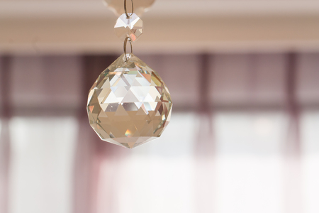 Crystal glass glittering chandelier