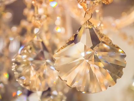 crystal chandelier in room Stock Photo