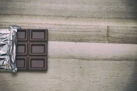 Delicious chocolate bar seen from the top