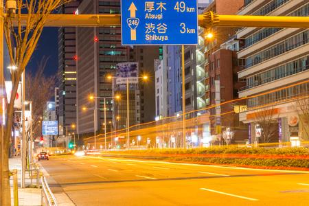 Middernacht weg naar Shibuya, een rechte weg