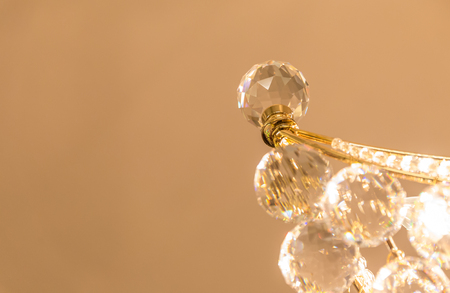 chandelier: Crystal glass of chandelier that shines like a jewel in room