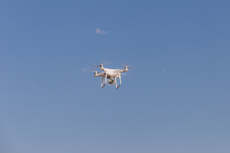 phantom: Drone fly in the blue sky