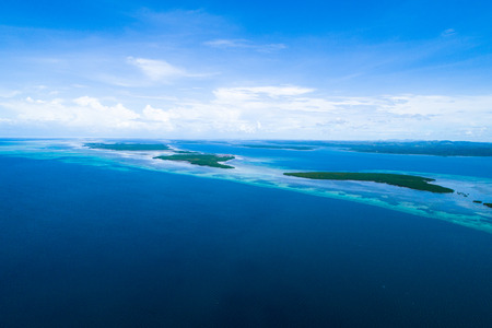 Aerial view of the closest island to heaven 写真素材