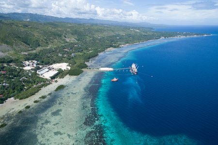 Shooting the view of Cebu Island from the sky with drone
