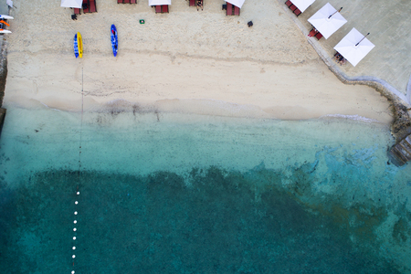 Shooting the beach of Cebu early in the morning from the sky 写真素材