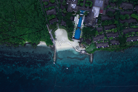 Shooting the beach of Cebu early in the morning from the sky Фото со стока