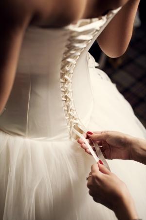 feier: Hochzeitskleid close-up